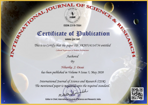 International Journal of Science & Research