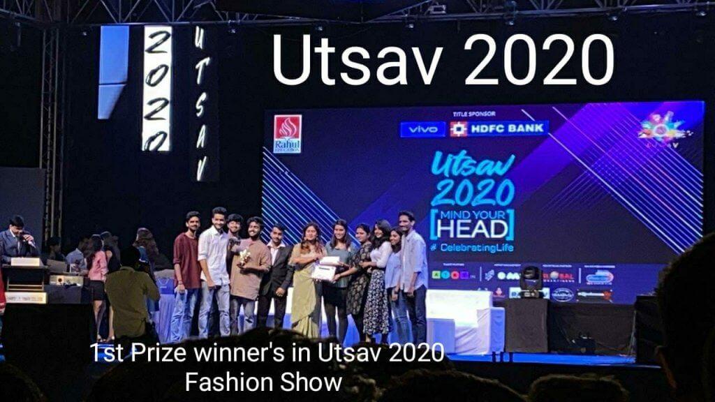 1st Prize Winner's in Utsav 2020 Fashion Show